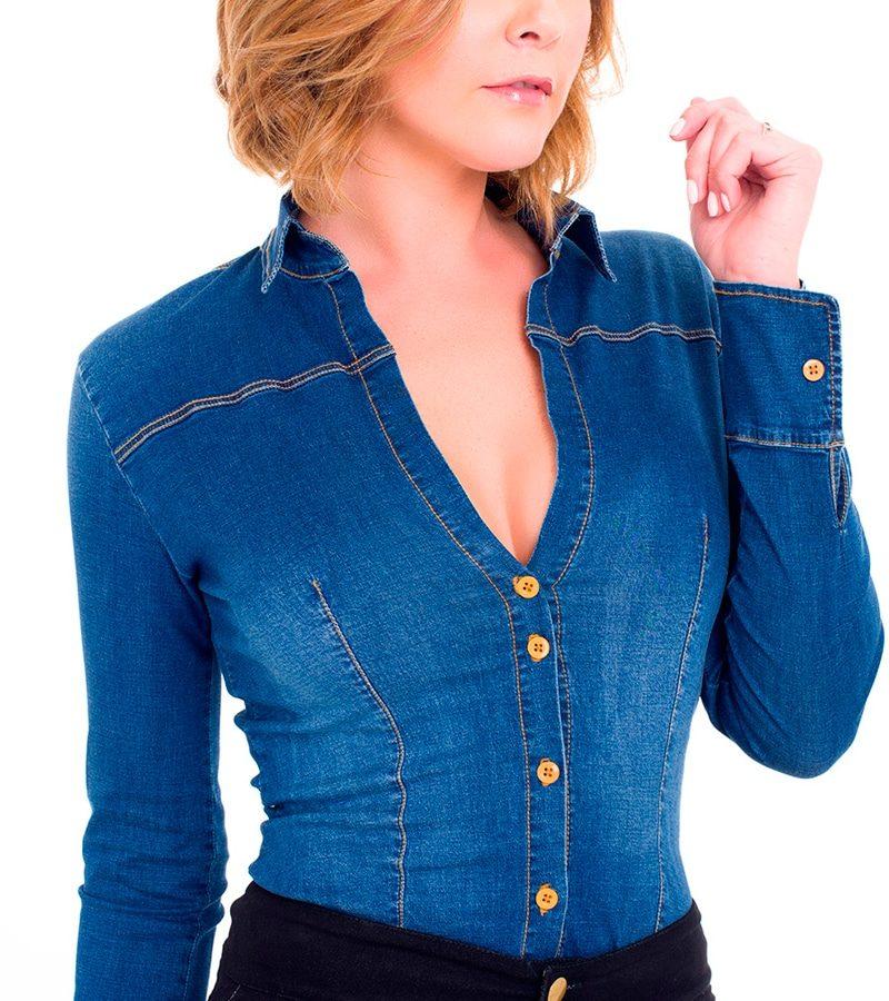 Camisa Jean Slimfit Be You by Natasha Fonte