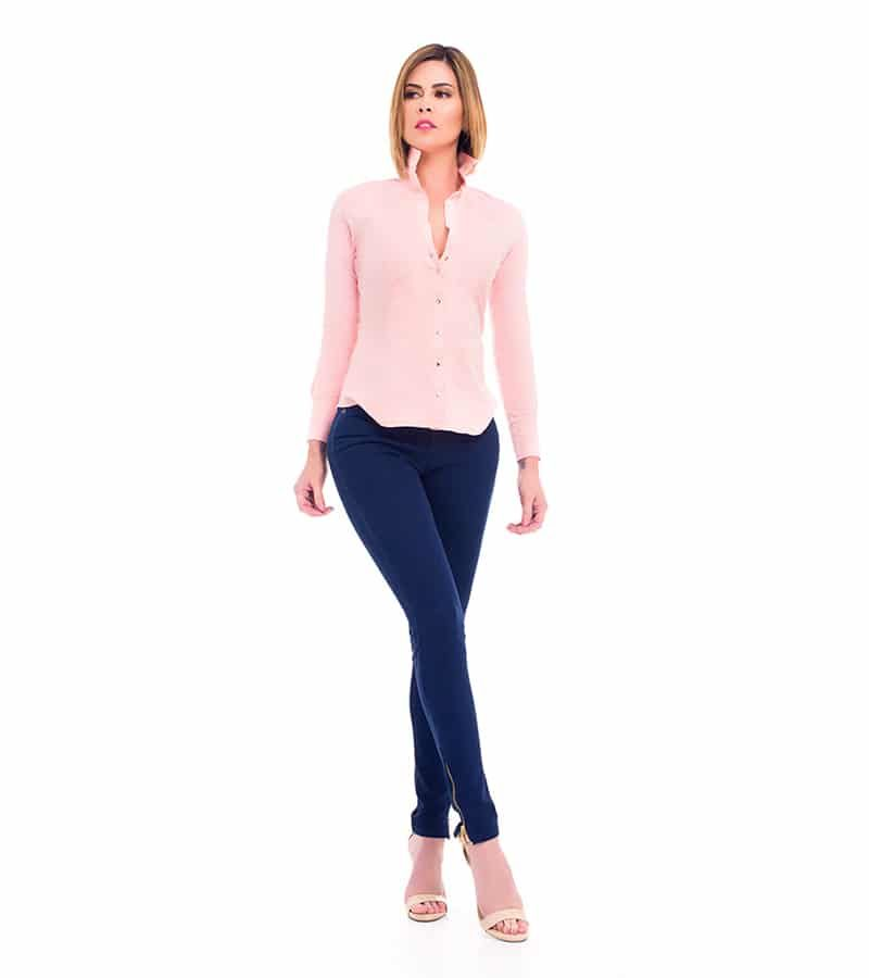 Camisa Slimfit Rosa Be You by Natasha Fonte