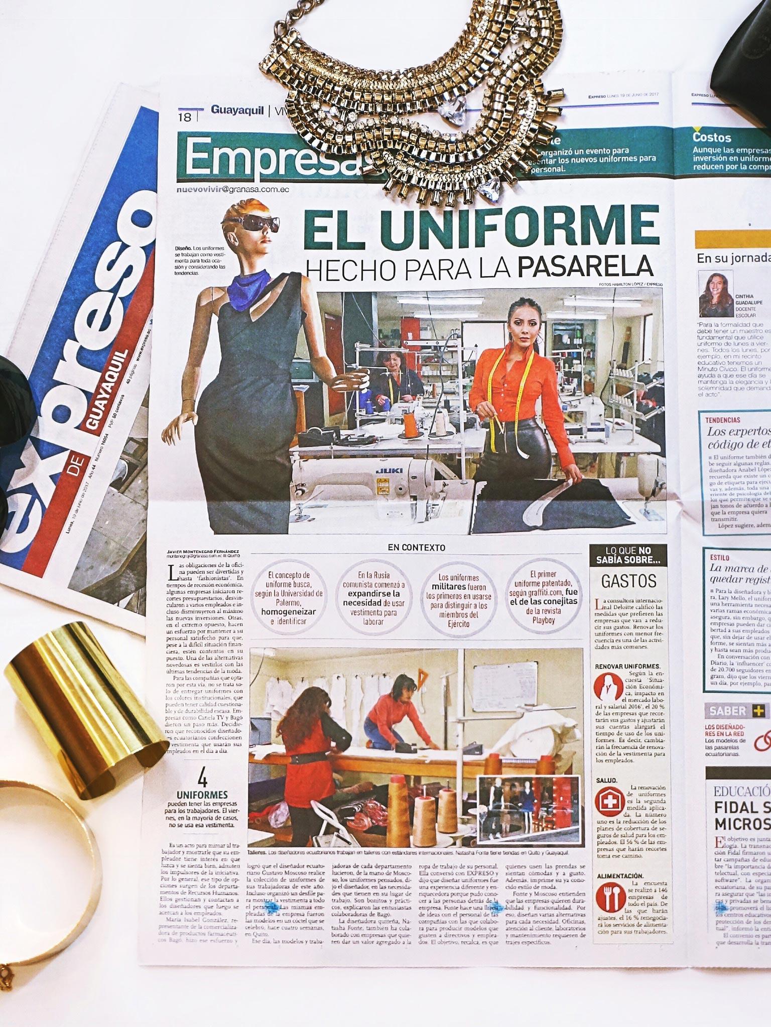 Prensa Natasha Fonte Diseñadora de Modas