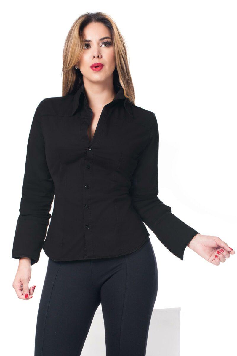 Camisa Slim Fit Negra1