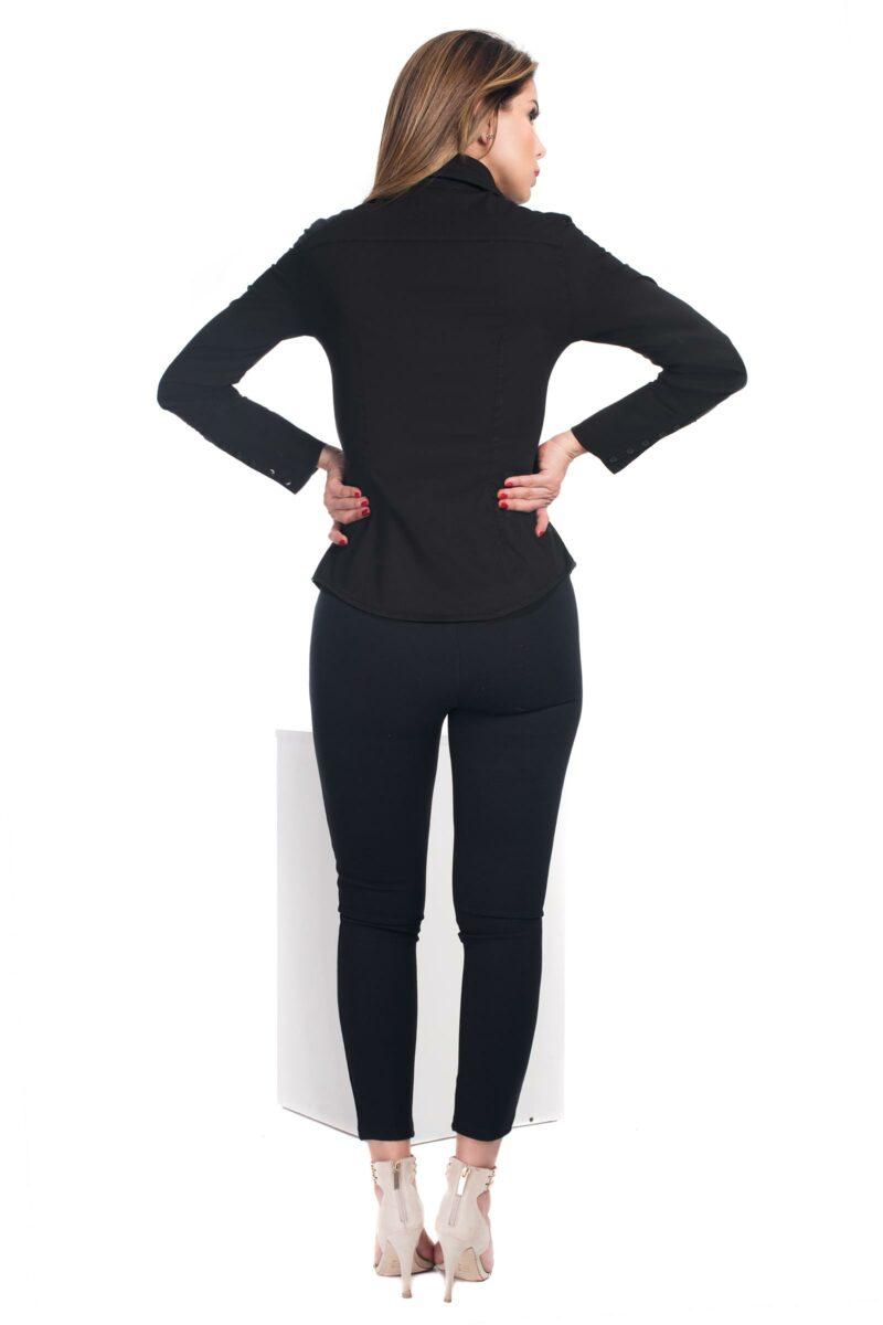 Camisa Slim Fit Negra2