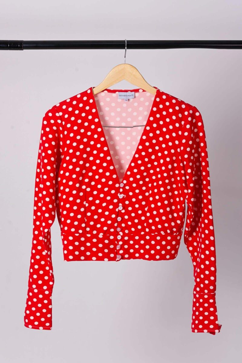 Blusa Polka Dots Be You By Natasha Fonte 2
