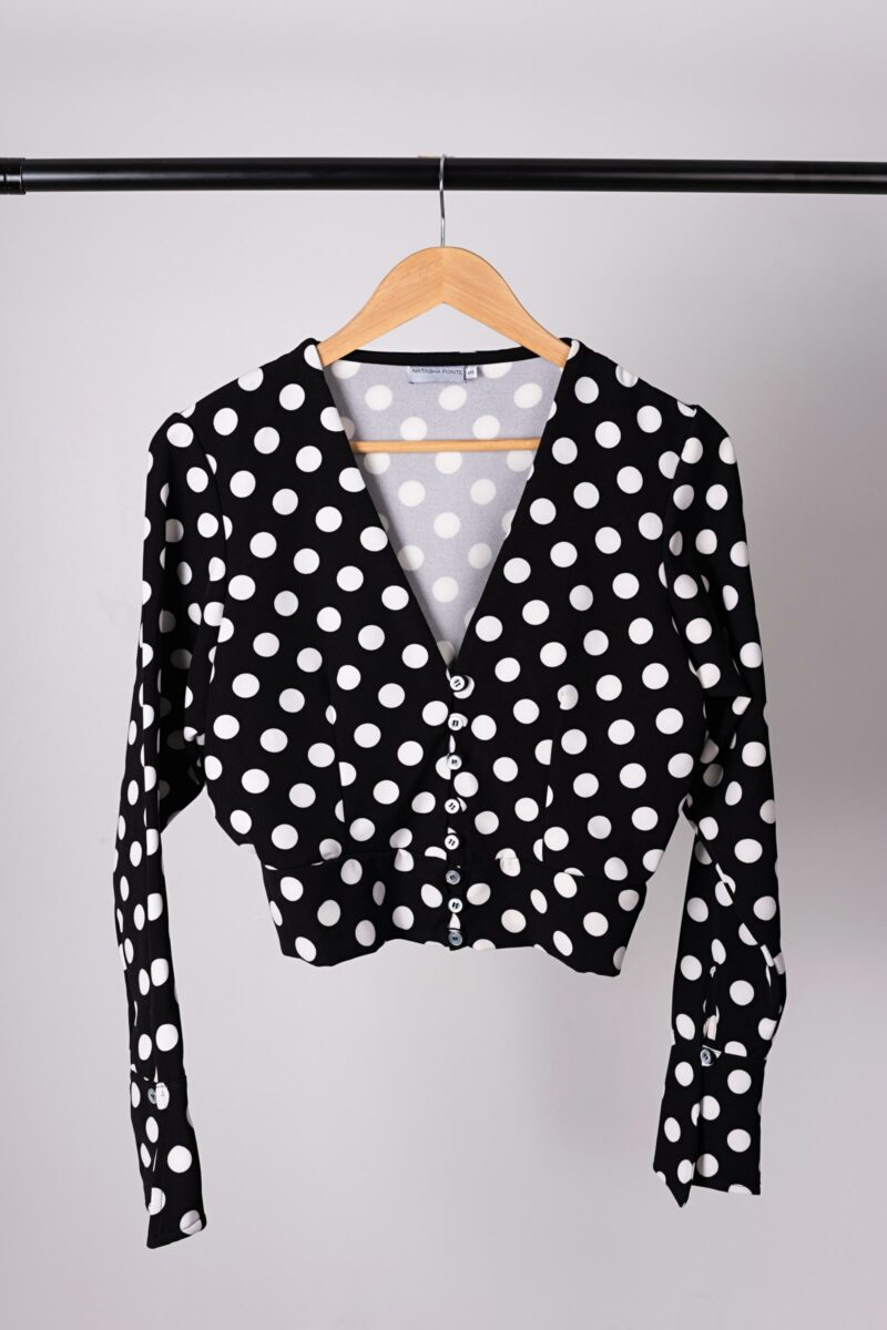 Blusa Polka Dots Be You By Natasha Fonte 3